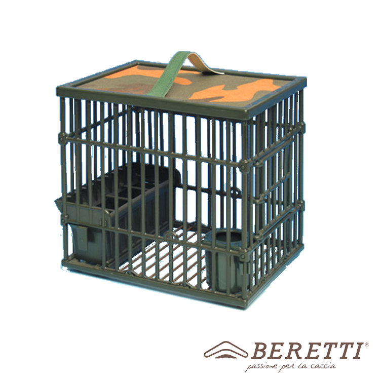 SMALL CAGE WITH SIDE OPENING AND WATERPROOF CAMOUFLAGE CEILING